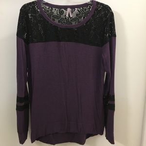 Purple and Lace Long Sleeve